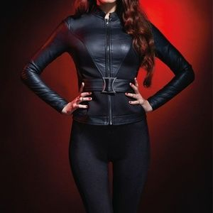 XS Marvel Black Widow Her Universe Jacket